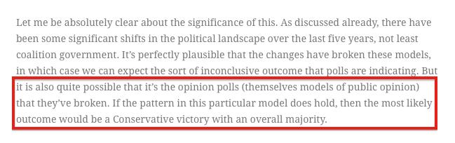 Matt Singh (Number Cruncher Politics) predicted opinion poll failure
