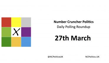 Number Cruncher Politics Daily Polling Roundup 27th March