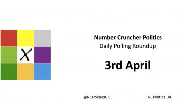 Number Cruncher Politics Daily Polling Roundup 3rd April